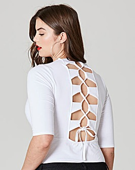 Simply Be Lace Up Back Body