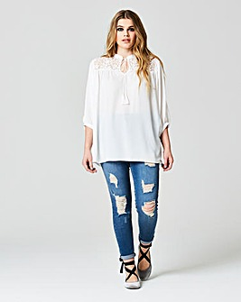 Simply Be Lace Yoke Top
