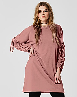 Simply Be Ruched Sleeve Sweat Dress