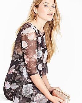 Simply Be Print Mesh Dress