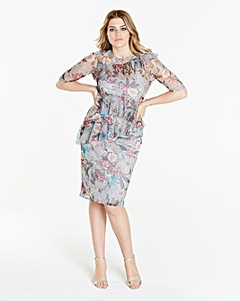 Simply Be Print Mesh Dress