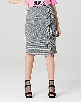 Simply Be Ruffle Gingham Skirt