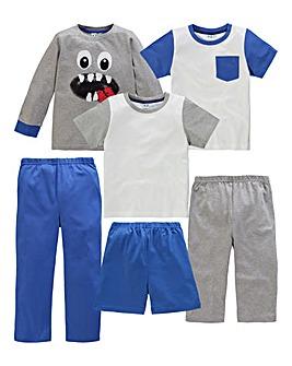 KD Edge Boys Pack of 3 Pyjamas
