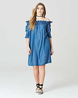 Simply Be Tencel Bardot Dress