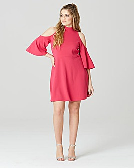 Simply Be High Neck Cold Shoulder Dress