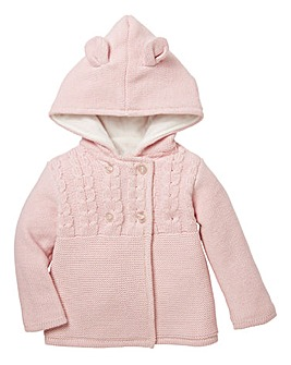 KD Baby Girl Knitted Hooded Cardigan