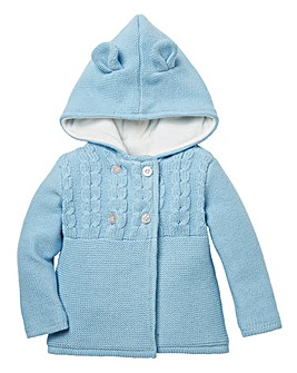 KD Baby Boy Knitted Hooded Cardigan