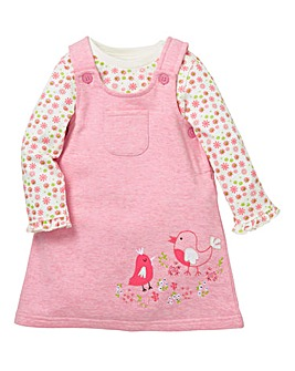 KD Baby Girl Dungaree Dress Set