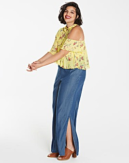 Simply Be Side Split Tencel Trousers