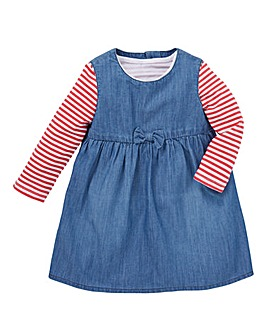 KD Baby Denim Dress and T Shirt Set