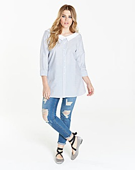 Simply Be Oversize Bardot Shirt