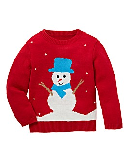 Christmas Snowman Knitted Jumper