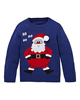 KD Christmas Santa Knitted Jumper