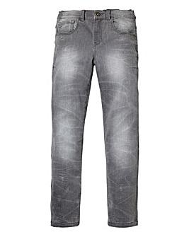 Union Blues Boys Grey Skinny Jeans