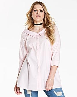 Simply be Oversize Bardot Shirt