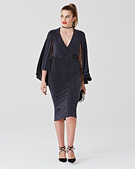 Simply Be by Night Cape Midi Dress
