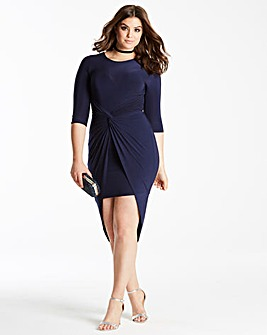 Simply Be by Night Knot Dip Back Dress