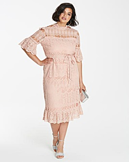 Simply Be High Neck Lace Dress