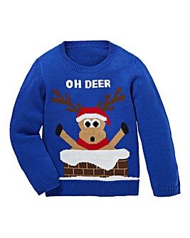 KD Christmas Reindeer Knitted Jumper