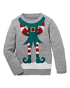 KD Christmas Elf Knitted Jumper