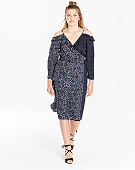 Simply Be Ruffle Wrap Dress