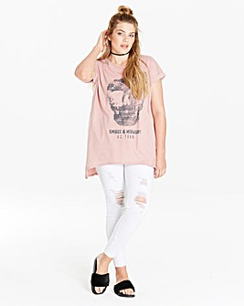 Simply Be Skull Print Rock TShirt