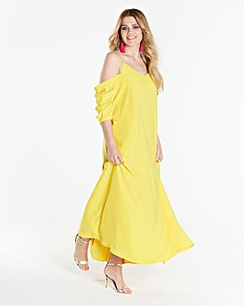 Simply Be Cold Shoulder Maxi Dress