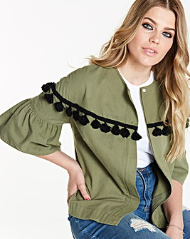 Simply Be Tassel Fluted Sleeve Jacket