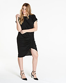Simply Be Ruched T Shirt Dress