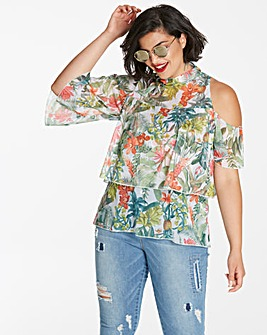 Simply Be One Shoulder Ruffle Top