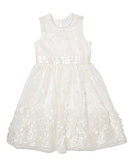 KD Girls Ivory Occassion Dress