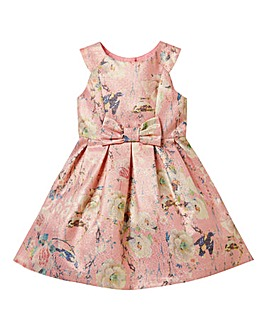 KD Girls Jaquard Floral Party Dress