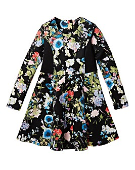 KD Girls Floral Print Scuba Dress