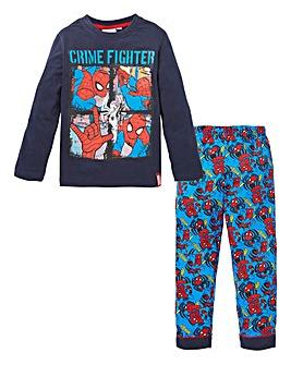 Spiderman Boys Long Sleeve Pyjamas