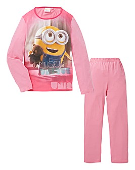 Minions Girls Long Sleeve Pyjamas