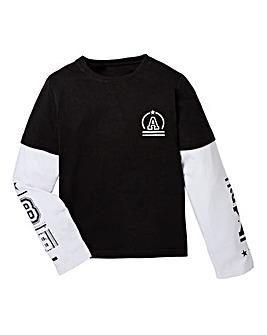 KD Boys Mock Sleeve T Shirt