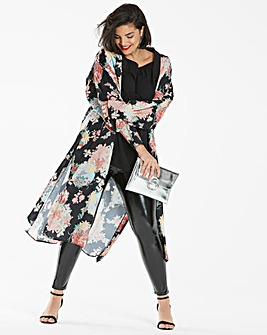 Simply Be Oriental Print Kimono
