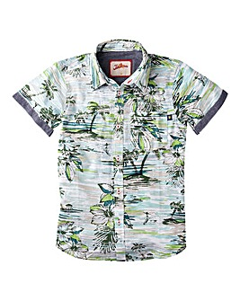 Joe Browns Boys Short Sl Hawaiian Shirt