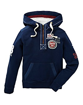Joe Browns Boys badged Pull On Hoodie
