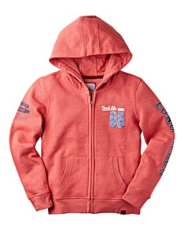 Joe Browns Boys Marl Zip Thru Hoodie
