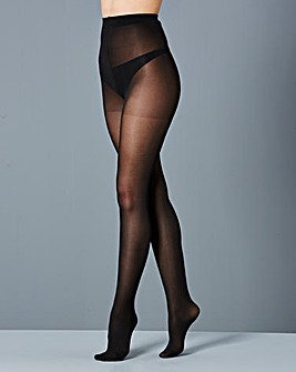 2 Pack 40 Denier Opaque Black Tights