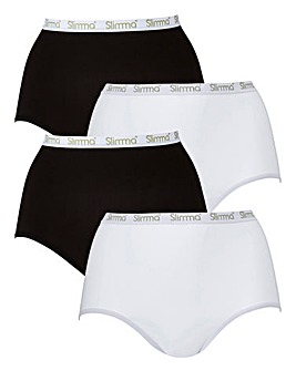 4 Pack Full Fit Slimma Briefs, Assorted