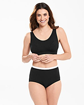 Slimma 2 Pack Black/White Comfort Tops