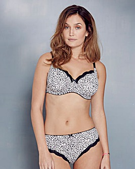 2 Pack Full Cup Leopard/Blk Bras