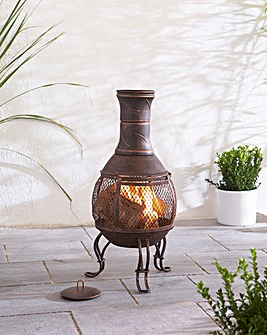 Gardeco Steel Pot Belly Mesh Chimenea