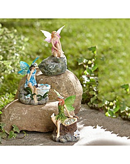 Set of Three Fairy Solar Ornaments