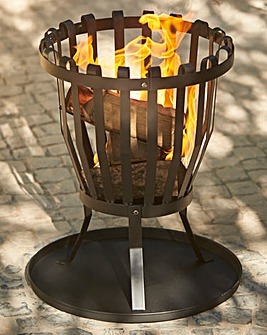 La Hacienda Black Steel Fire Basket