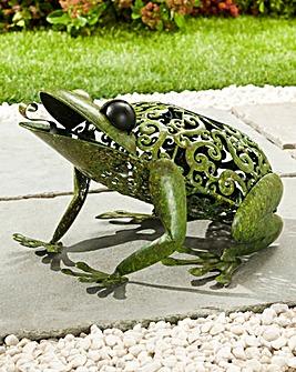 Metal Silhouette Frog Light