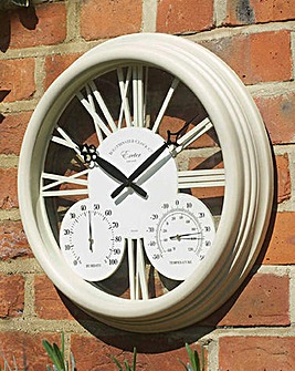 Exeter Wall Clock & Thermometer