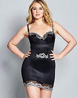 Firm Control Two Tone Lace Slip
